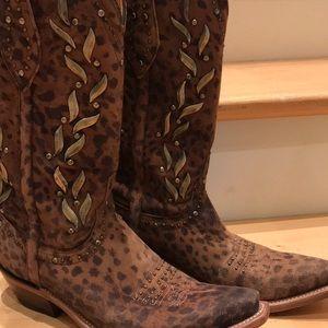 Luchease Camel Cheetah Stud Boots FINAL 🔥